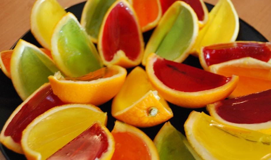 galaretki wpomarańczach