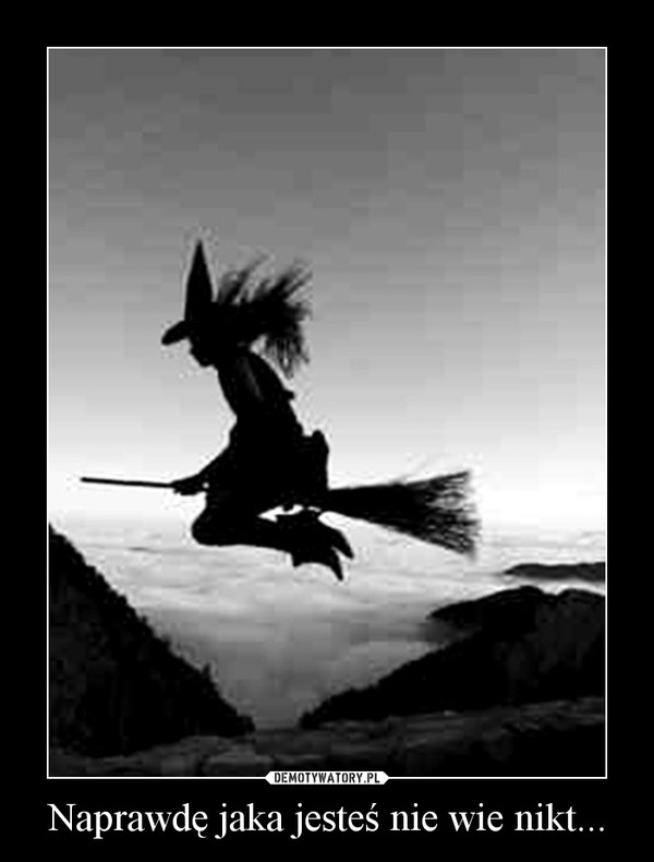 Wicked Witch Of The West Flying On Her Broom czarownica – Szalono...