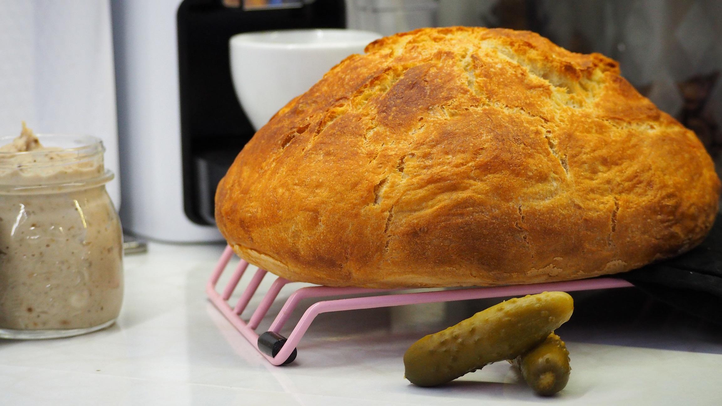 Chleb pieczony wgarnku